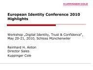 Die Rolle von Identity Management und eProvisioning für On ...