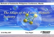 The Shape of the Future Biofuels Industry The Shape of the ... - icrisat