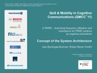QoS & Mobility in Cognitive Communications (QMCC´11 ... - QoSMOS