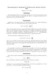 Sammanfattning av föreläsning 19 i Kondenserade materiens fysik ...