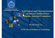 Fabrication and Characterization of Silicon Carbide Power Bipolar ...