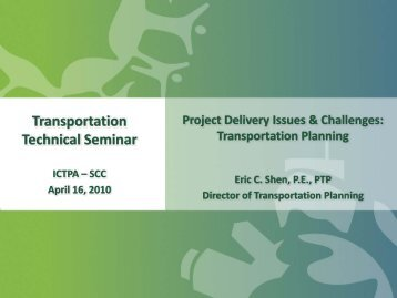 Transportation Planning - ictpa-scc
