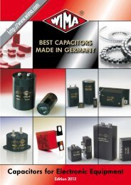 Capacitors for Electronic Equipment