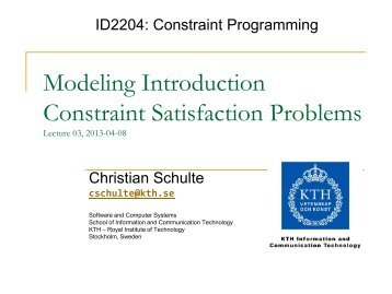 L03: Why Principles? Constraint Satisfaction Problems and Models