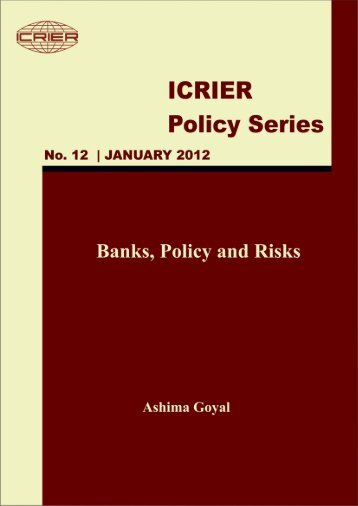 Banks, Policy and Risks - icrier