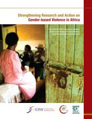 Strengthening Research and Action on Gender-based Violence in ...