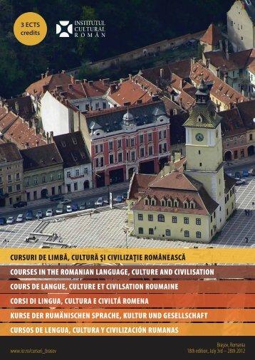 cursuri de limbă, cultură şi civilizaţie românească courses in the ...