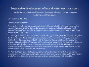 sustainable development of inland waterways transport in ... - ICPDR