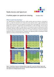 Radio Access and Spectrum A white paper on spectrum ... - QoSMOS
