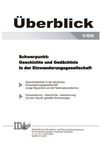 Geschichtsbilder in der deutschen ... - IDA-NRW
