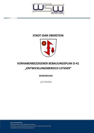 entwicklungsbereich leysser - Idar-Oberstein