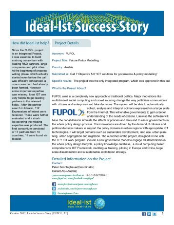 Ideal-ist Success Story: FUPOL (PDF, 627 KB)