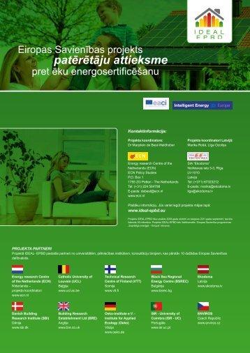 Projekta IDEAL-EPBD brošūra