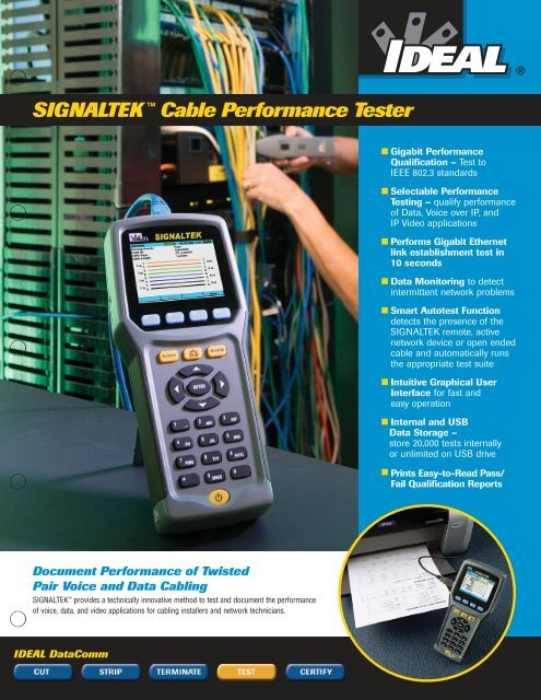 SIGNALTEK™ Cable Performance Tester