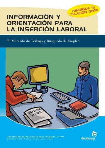 información y orientación para la inserción laboral - Ideaspropias ...