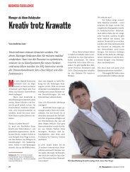 Kreativ trotz Krawatte, Interview mit Jens-Uwe Meyer - Die Ideeologen