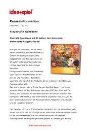 Pressemitteilung - Idee und Spiel