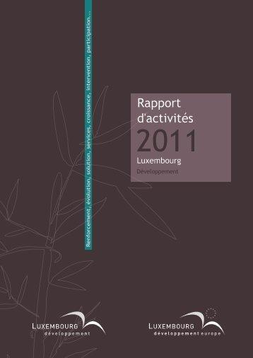 le rapport d'activités 2011 de Luxembourg Développement - Idelux