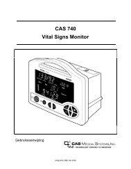 CAS 740 Vital Signs Monitor