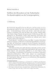 Einflüsse des Deutschen auf das Tschechische: Ein ... - IDF