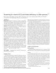 Screening for vitamin B-12 and folate deficiency in older persons1–3