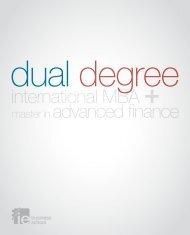 Dual Degree: International MBA + Master in Advanced Finance - IE
