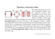 Repetition: Hertzscher Dipol