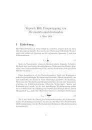 Versuch E06: Frequenzgang von Wechselstromwiderständen