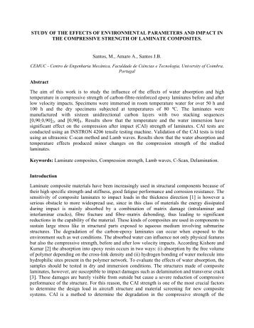 STUDY OF THE EFFECTS OF ENVIRONMENTAL PARAMETERS ...