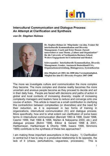 Download Artikel (pdf) - idm - International Society for Diversity ...
