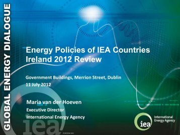 Energy Policies of IEA Countries Ireland 2012 Review