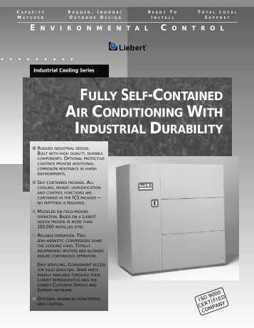 Liebert Industrial Cooling Series, 50/60Hz; Product Brochure