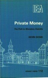 PRIVATE MONEY.pdf - Institute of Economic Affairs