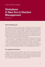 Zimbabwe: A New Era in Election Management - International IDEA