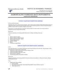 samostalno vođenje računovodstva - IEF - Institut za ekonomiku i ...