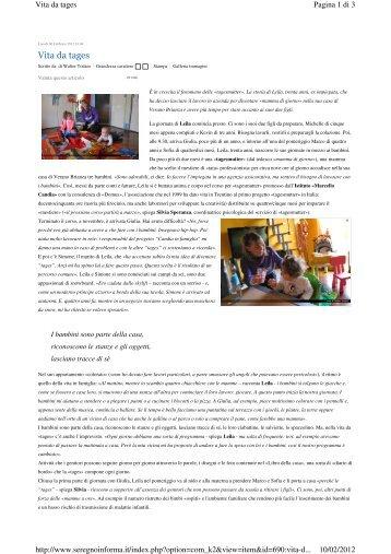 Vita da tages - Istituto Europeo Marcello Candia