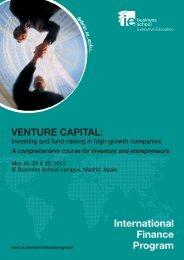 VENTURE CAPITAL: International Finance Program - IE