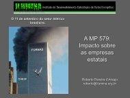A MP 579: Impacto sobre as empresas estatais - IEE/USP