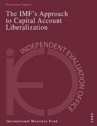 IEO Evaluation Report 2005: IMF's Approach to Capital Account ...
