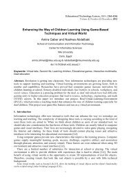 Enhancing the Way of Children Learning Using Game-Based ...