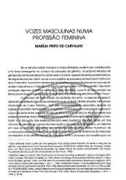VOZES MASCULINAS NUMA PROFISSAO FEMININA - Instituto de ...