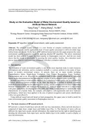 Study on the Evaluation Model of Water Environment Quality based ...
