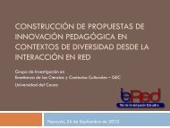 Construcción de propuestas de innovación pedagógica en ... - ieRed