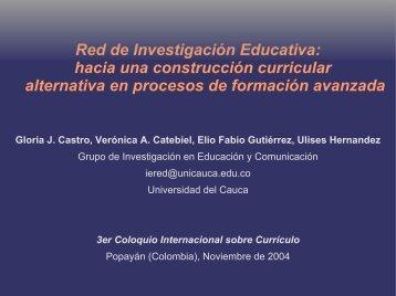 Red de Investigación Educativa: hacia una construcción ... - ieRed