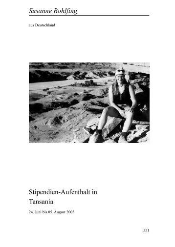 Susanne Rohlfing Stipendien-Aufenthalt in  ... - Heinz-Kühn-Stiftung