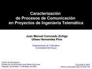 Caracterización de Procesos de Comunicación en ... - ieRed