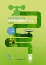 Déclaration environnementale 2010 2009 - Idelux