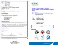 Launch of New Singapore Standard SS 531 Code of Practice for ...