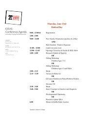 2011 IDEAS Conference Agenda