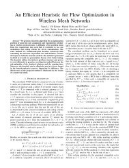 An Efficient Heuristic for Flow Optimization in Wireless Mesh Networks